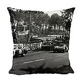 Media Storehouse 12x12 Cushion of 1964 Le Mans 24 Hours Fernand Masoero/Jean Rolland, Alfa Romeo Giulia (8892089)