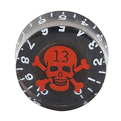 R SODIAL Gitarre Potentiometer Knoepfe 4-in-1 Roter Schaedel Gitarre Potentiometer Knoepfe oeffnung 6 mm
