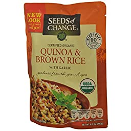 Seeds of Change Organic Quinoa & Brown Rice, 8.5 Ounce (Pack of 4)