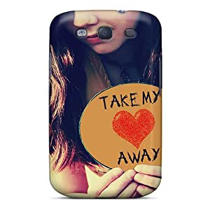 New Cute Funny Take My Heart Awy Case Cover/ Galaxy S3 Case Cover