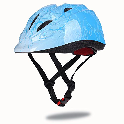 Dostar Kids Bike Helmet – Adjustable Helmet from Ages 3-6 - Cycling Scooter Multi-sport Durable Kid Bicycle Helmets Boys and Girls will LOVE - CSPC Certified for Safety and Comfort (Blue)