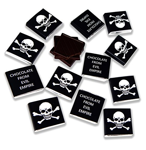 DA CHOCOLATE Villainous Chocolate ☠ 0.17 ounce pieces of dark chocolate ☠ Food gifts from Evil Empire (12 pieces of chocolate) -