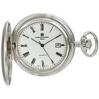 Charles-Hubert, reloj de bolsillo de cuarzo bañado en rodio de París