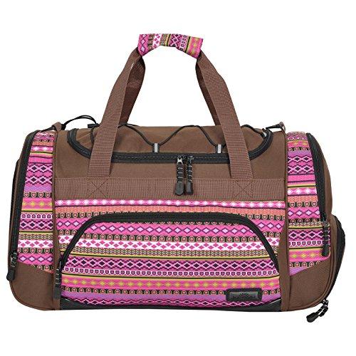 Die durchdachte Sporttasche ( 50 x 29 x 28 cm ) KEANU Fitness Yoga Sauna mit XL Getränkenetz :: grosse multifunktionale Tasche für Gym Sport Sauna Reise Wellness :: Reisetasche - Auswahl Indian Lilac dZXq7