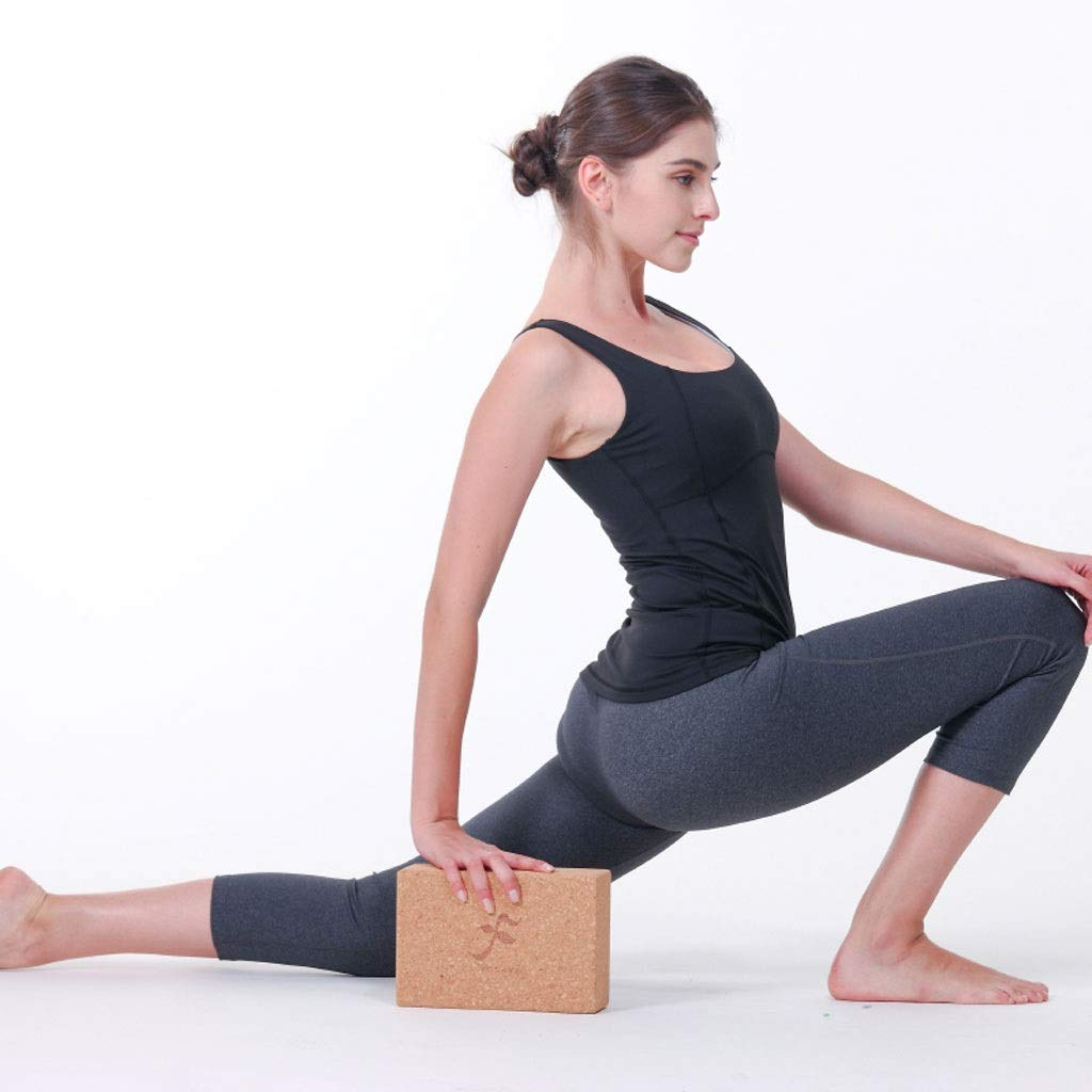Amazon.com: Bloques de yoga de corcho de roble natural de ...