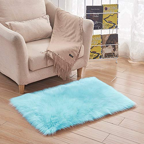 YJYDADA Soft Rug Chair Cover Artificial Sheepskin Wool Warm Hairy Carpet Seat Mats Rug 40x60CM (G)