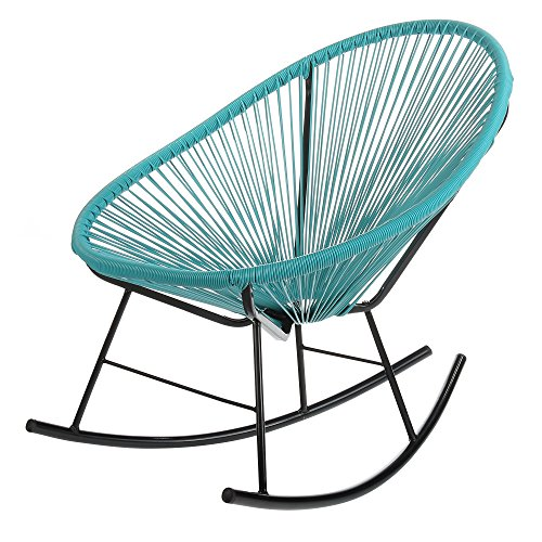 PoliVaz PV-MR-BL Mayan Hammock Acapulco Rocking Chair, Large, Turquoise Blue