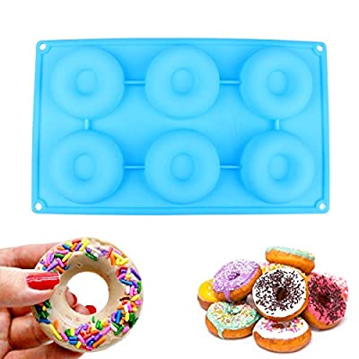 Delidge 6-Cavity Bakery Kitchen Donut Molds Baking Pan