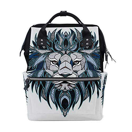(HangWang Diaper Bags Creative Lion Head Fashion Mummy Backpack Multi Functions Large Capacity Nappy Bag Nursing Bag for Baby Care for Traveling)