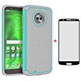 Phone Case for Motorola Moto G6 with Tempered Glass Screen Protector Cover and Cell Accessories Hard Protective Slim Rugged Silicone MotoG6 G 6th Gen 6 6G XT1925DL XT1925 XT1925-6 Moto6 Cases Grey