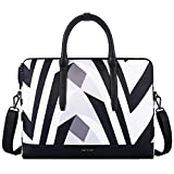 Cartinoe Women 13.3 Inch Laptop Tote Bag Notebook Shoulder Bag Lightweight Multi-pocket Business Work Office Briefcase for iPad Pro/Computer/Macbook/Ultrabook, Zebra