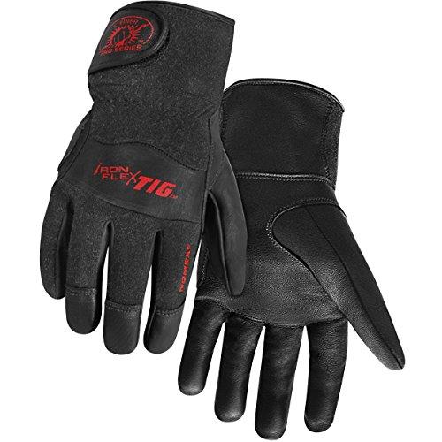 Steiner 0260-L SPS Ironflex TIG Gloves, Black Grain Kidskin Nomex Back Velcro Cuff, Large (Cuff Grain)
