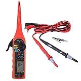 4 in 1 Auto Circuit Tester Multimeter Lamp Car Repair Automotive Electrical Diagnostic Tool ((Multimeter +Test lamp +Lighting Lamp + Probe)(Red)
