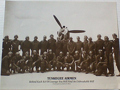 Tuskegee Airmen Gift For Christmas ,Birthday,Mother's Day,Farther's Day Or Black History Month 8 x10 Photo (no frame)With Inspirational Quote
