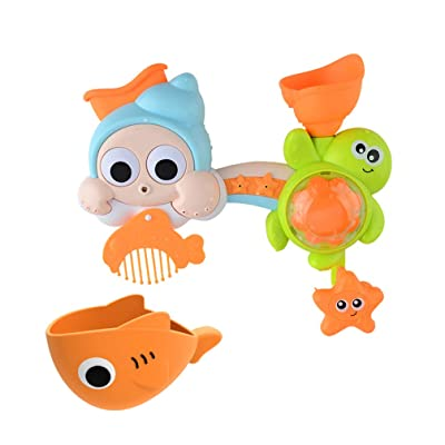 TOYANDONA Bath Toy Turtle Bath Shower Spray Set Rotating Fountain Toy Sprinkler Toy with Water Bowl for Infant Baby Home: Toys & Games