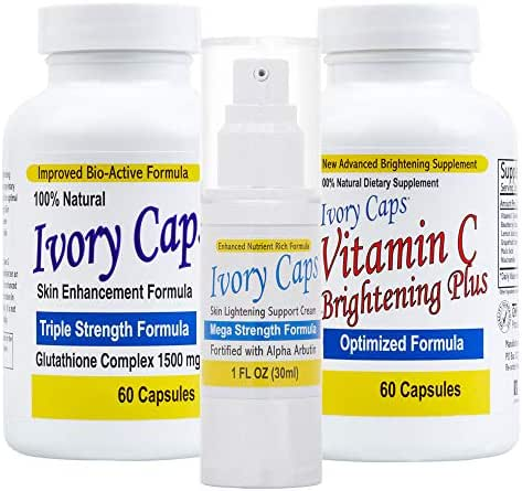 Ivory Caps Complete Skin Lightening Systems (System 1)