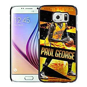 New Custom Design Cover Case For Samsung Galaxy S6 Indiana Pacers Paul George 5 Black Phone Case