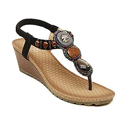Popular Renee Womens Horize Beaded Cork Thong Sandal Turquoise