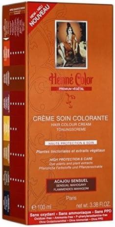 Henné Color - Tinte a base de henna (100 ml), color castaño