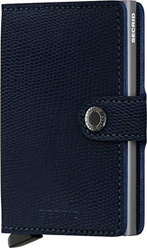 Secrid Miniwallet Rango Blue Titanium Leather Wallet SC5557