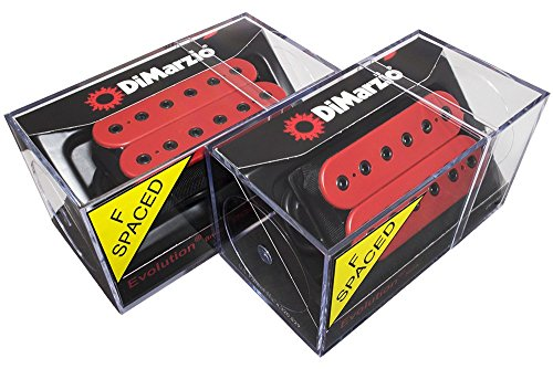 DiMarzio Evolution F-Spaced Neck & Bridge Humbucker Pickup Set, Red DP158F, DP159F