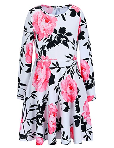 Vintage Flower Print Dress - 4