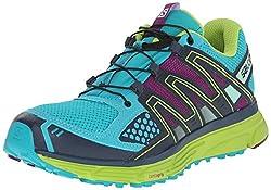 Salomon Women's X-mission 3 W Trail Running Shoe, Teal Bluegranny Greenpassion Purple, 7.5 B Us
