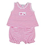 Kissy Kissy Baby Girls Ocean Treasures Terry Stripe Sunsuit - Fuchsia-18-24mos