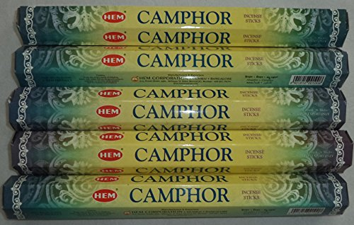 Camphor Incense - HEM Camphor 100 Incense Sticks (5 x 20 stick packs)