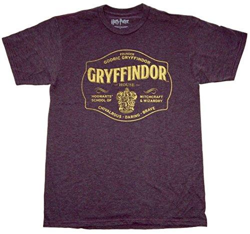 [Harry Potter Gryffindor Burgundy Mens T-shirt M] (Hogwarts Robes Gryffindor)