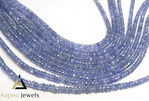 1 Strand Natural Tanzanite Loose Beads Strand, 3-4mm 13 Inch Faceted Rondelle Tanzanite Beads, Tanzanite Beads Necklace, Jewelry Making Tanzanite Beads, Knotted Tanzanite -