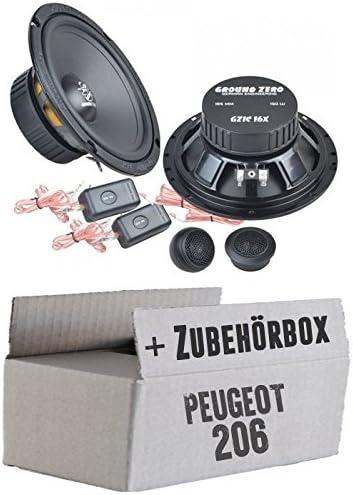 Ground Zero Gzic 16x 16cm Lautsprecher System Einbauset Für Peugeot 206 Just Sound Best Choice For Caraudio Navigation