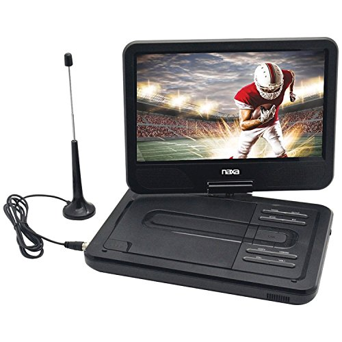 NAXA Electronics NPDT-1000 10-inch TFT LCD Swivel Screen Portable DVD Player with TV, USB/SD/MMC Inputs