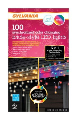Sylvania 100 Led Icicle Lights in US - 8