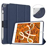 Soke iPad Mini 5 Case 2019 with Pencil Holder, Premium Trifold Case with Strong Protection, Ultra Slim Soft TPU Back Cover with Auto Sleep/Wake Function for New Apple iPad Mini 5th Gen,Dark Blue