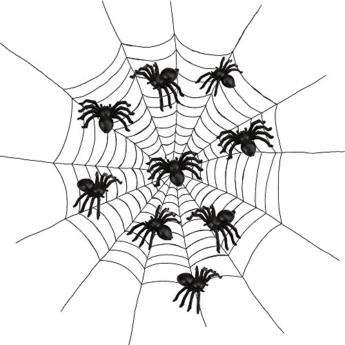 Plastic Spider Trick Toy Party Halloween Haunted House Prop Decor, Funny Birthday Festival Toys fr Kids (Black) ()