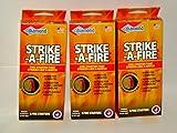 Strike-A-Fire Diamond Brand Fire Starter Matches - 3 Boxes (24 Fire Starters Total)