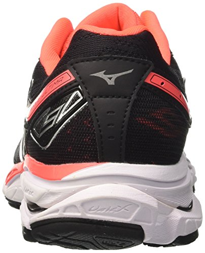 Mizuno Women's Wave Ultima 9 WOS Running Shoes, Blue Multicolor (Black/Silver/Fierycoral 81)