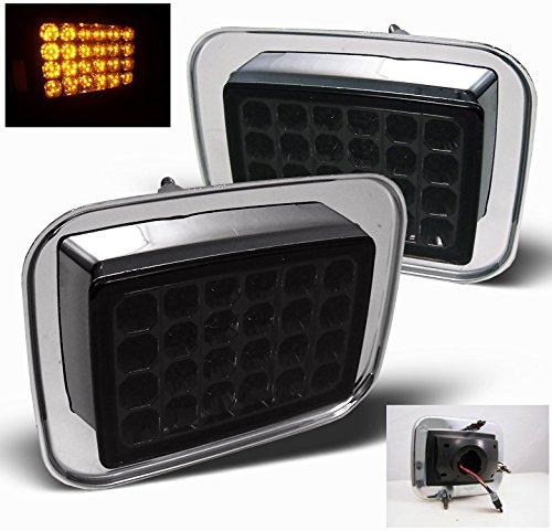 Hummer H2 Led Corner - ZMAUTOPARTS Hummer H2 Sut LED Front Side Corner Signal Light Lamp Smoke