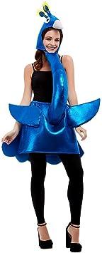 NET TOYS Divertido Disfraz de Pavo Real para Dama - Azul ...