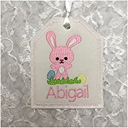 Personalized easter gift tags lets personalize that easter basket gift tag personalized embroidered gift tag easter basket personalized name tag negle Images