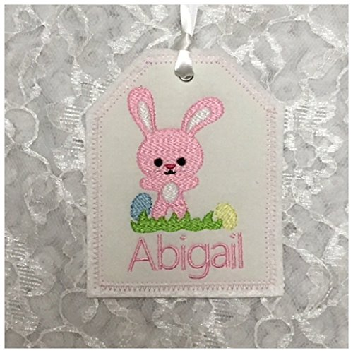 Easter Basket Gift Tag, Personalized Embroidered Gift Tag, Easter Basket  Personalized Name Tag,