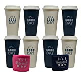 Aladdin Blushers 20oz Reusable Cups (Cream & Marina) - 8 Pack
