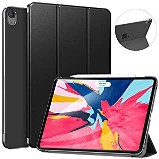"""Ztotop Case for iPad Pro 11"""" 2018 - Slim Lightweight Trifold Stand Smart Shell with Auto Wake/Sleep + Rugged Translucent Back Cover Support iPad Pencil Charging for iPad Pro 11, Black"""