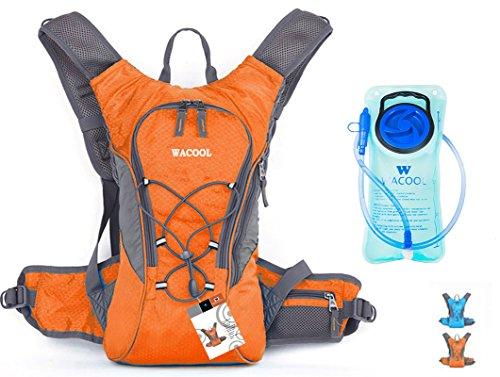 WACOOL Waterproof Hydration Bladder Pack, Cycling Backpack, Hiking Lightweight Daypack