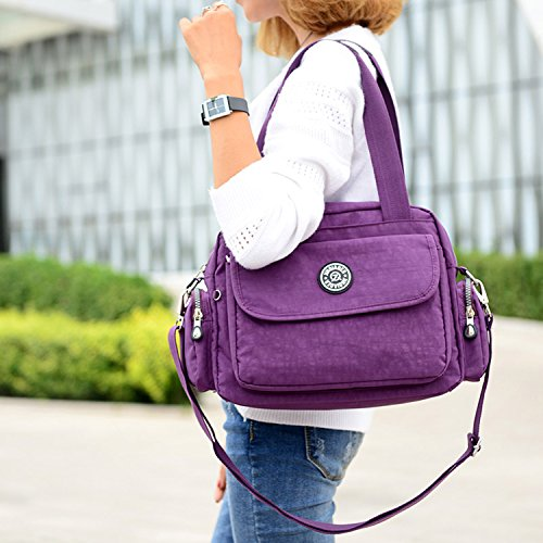 MeCooler Bolso Bandolera Impermeable Bolsos de Mano Mujer Casual Moda Escolares Bolsas de Deporte Bolsos Escuela Ligero Bolsas de Viaje para Tablet Sport Bag Varios colores 5