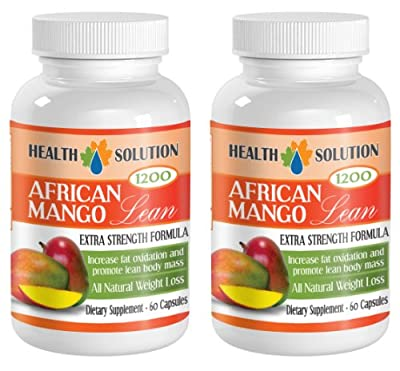 Diet pills for men and women - AFRICAN MANGO EXTRACT (1200Mg) - African mango green tea - 2 Bottles 120 Capsules