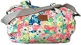 Victoria's Secret Floral Gym Bag Shoulder Tote School College Book Grey Strap