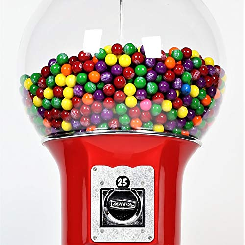Spiral Gumball Vending Machines - Original Wizard 4'10'' - $0.25 (Red) by Global Gumball (Image #1)