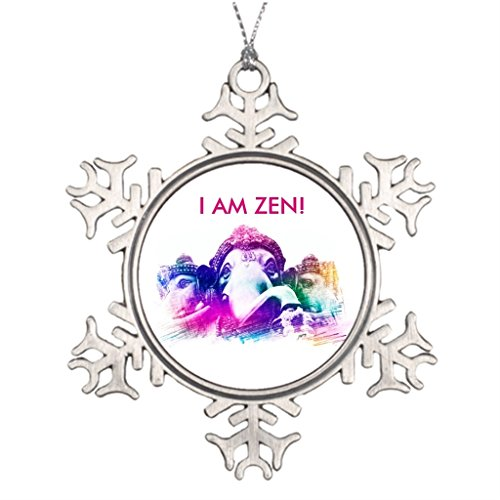 Cool fine Personalised Christmas Tree Decoration Zen Meditation by Cool fine